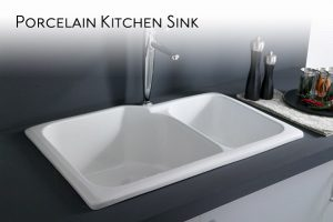 Dirty Porcelain Kitchen Sink