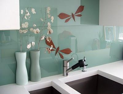 Stained Glass Mosaic Tile Backsplash