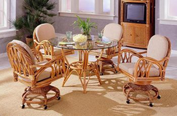 dinette chairs with casters