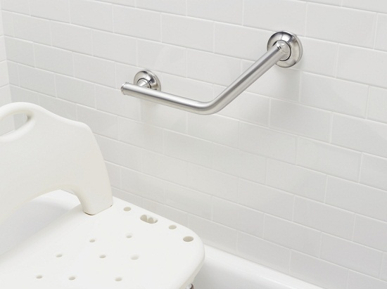 Angled Bathroom Safety Bars