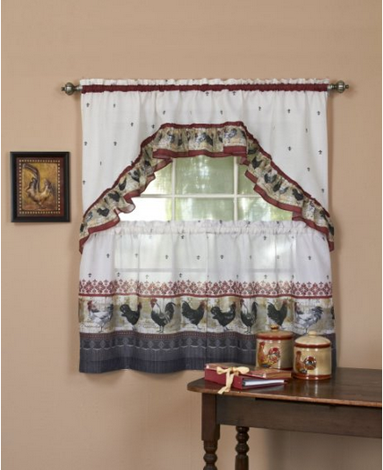 Rooster Swag Kitchen Curtains