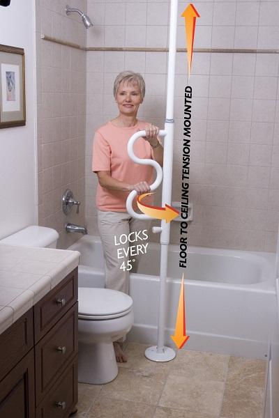 Vertical Bathroom Safety Bars
