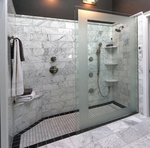 Snail Shower Design Ideas: Doorless Walk In Shower Designs Snail Shell