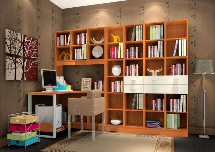Bookcase Design Ideas Study Room