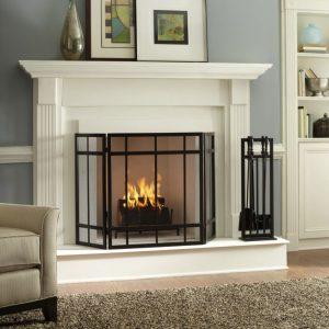 Gel Fireplace Designs White