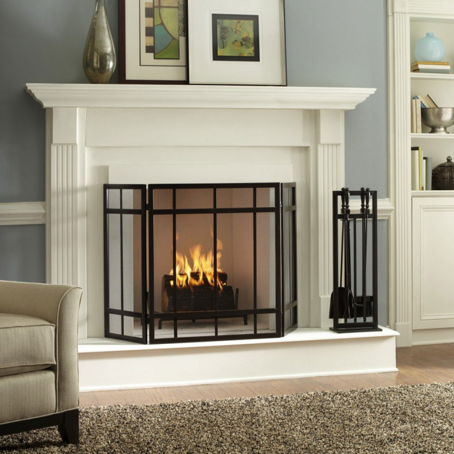 Gel Fireplace Designs White