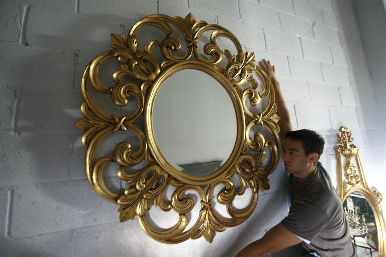 Luxury Gold Large Wall Mirrors for Living Room