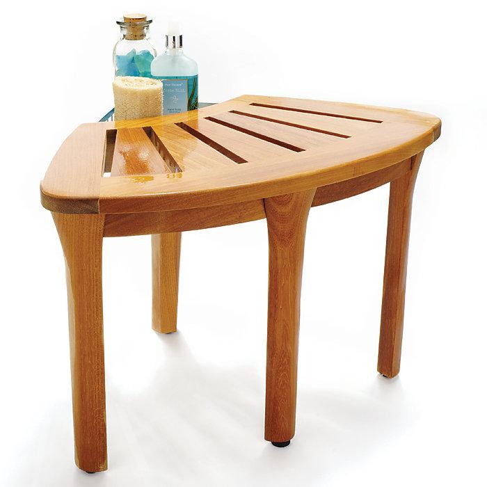 Teak Bathroom Furniture Corner Bath Stool
