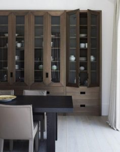 Glass Cabinet Brown
