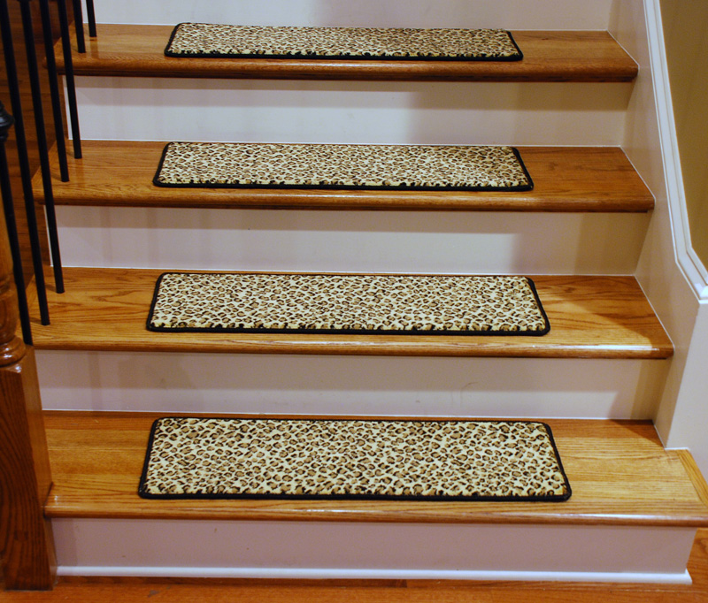 Carpet Stair Treads Leopard Style Home Design Tips