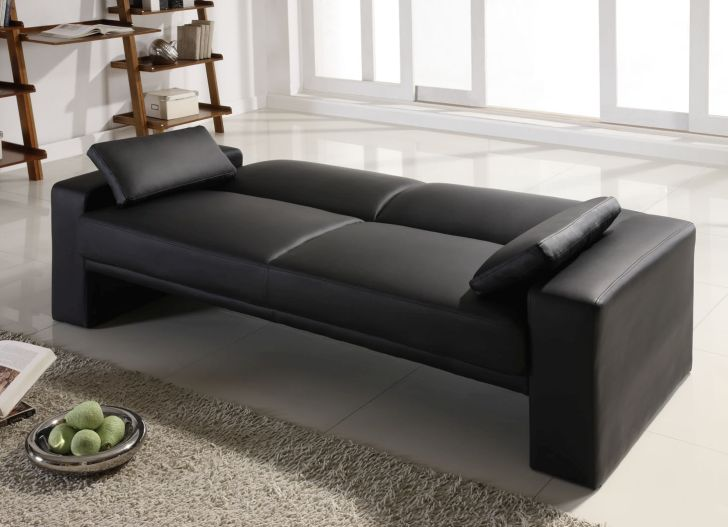 Cheap Futon Sofa Bed Ella Cube Faux Leather
