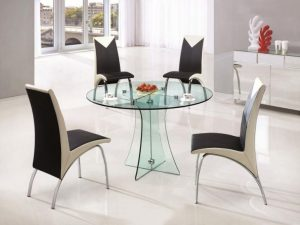 Glass Dining Table Sets Elegance Contemporary Round