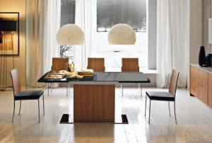 Glass Dining Table Sets Minimalist Modern Calligaris Park Extendable