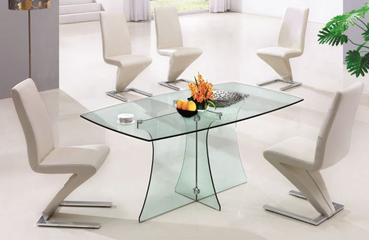 Glass Dining Table Sets Serena Clear