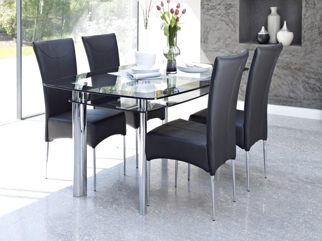 Glass Dining Table Sets of 6