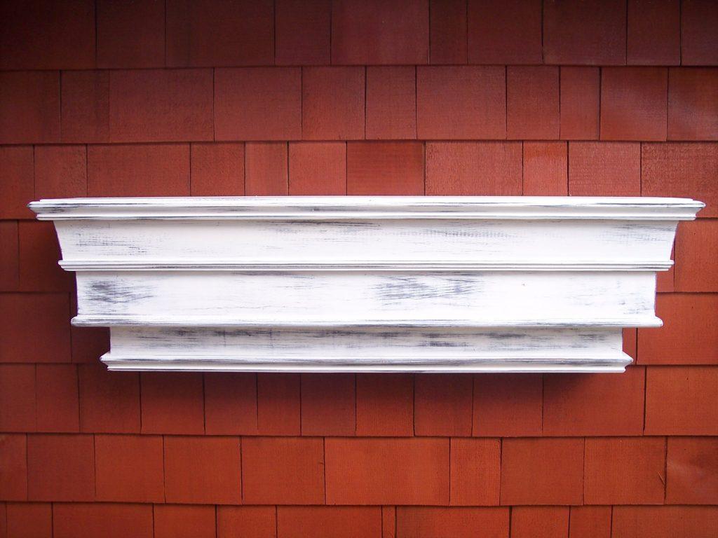 Mantel Shelf Design Timber Distressed Floating Wall Ledge