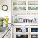 Glass Cabinet Open Shelves