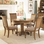 Pedestal Dining Table Set 5 Piece Round