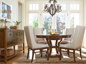 Pedestal Dining Table Set Chairs