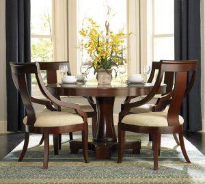 Pedestal Dining Table Set Coaster Cresta