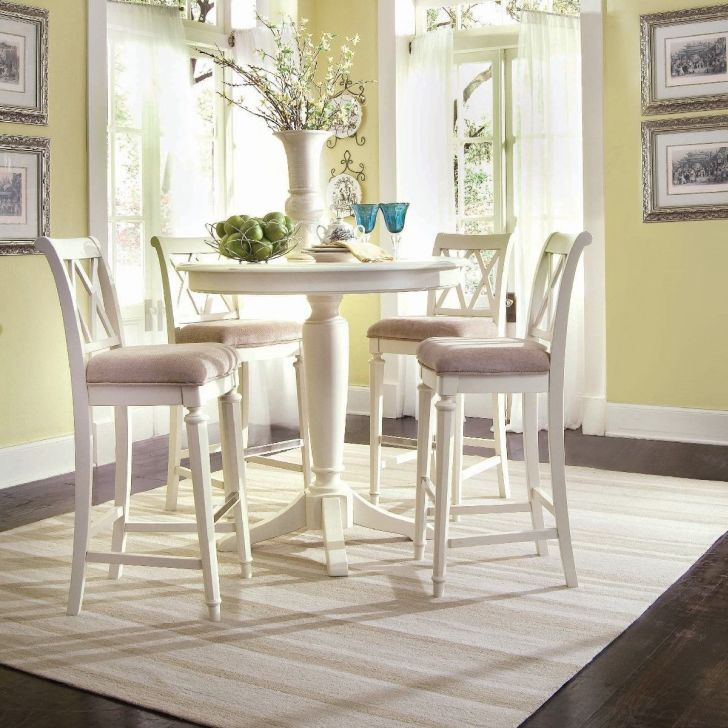 Pedestal Dining Table Set White