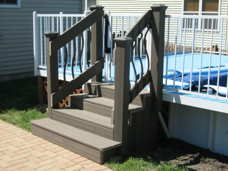 Pool Stairs Deck