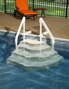 Pool Stairs Grand Entrance
