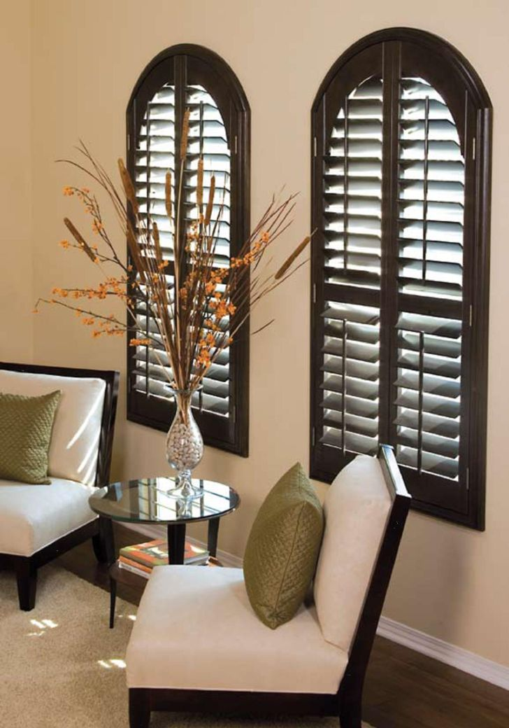 Arch Window Shade Black