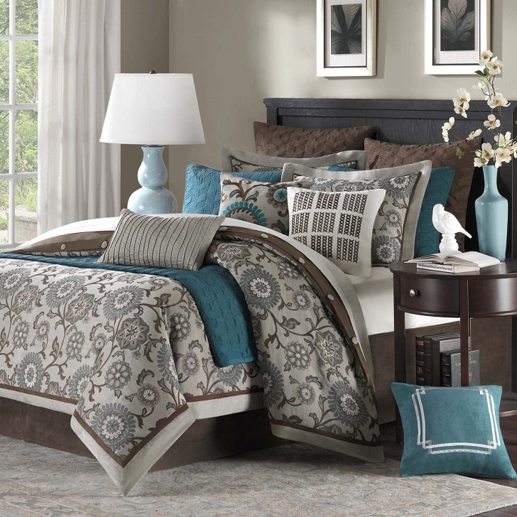 Turquoise and Brown Comforter Sets