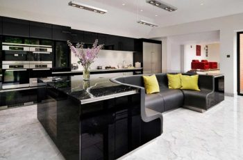 Kitchen Island With Built-in Sofa
