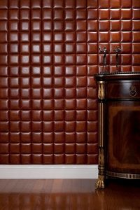 Faux Leather Tiles for Bedroom