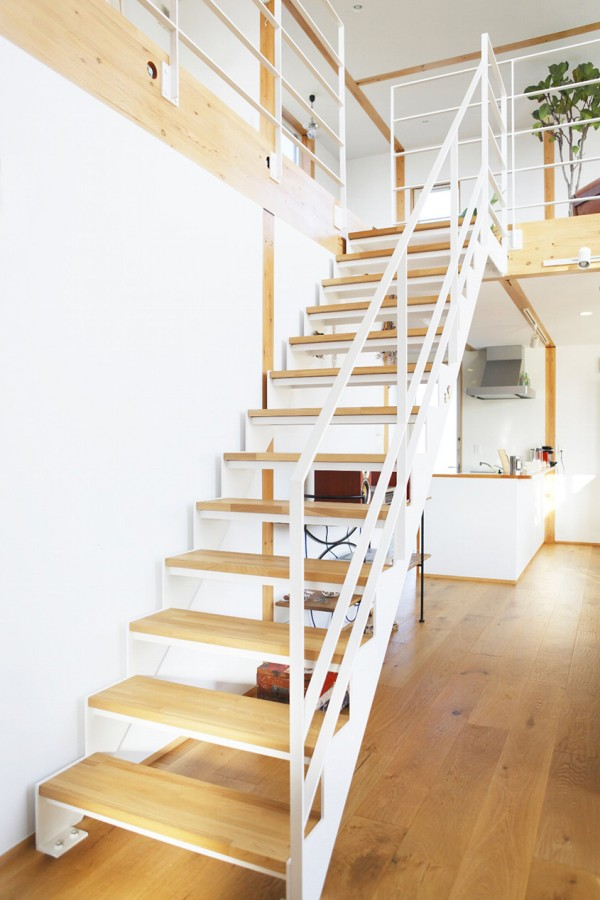 Simple White Stairs