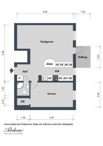 Two-Room Apartment in Sweden Plans