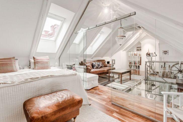 Elegant Attic Duplex Architecture Scandinavian Home