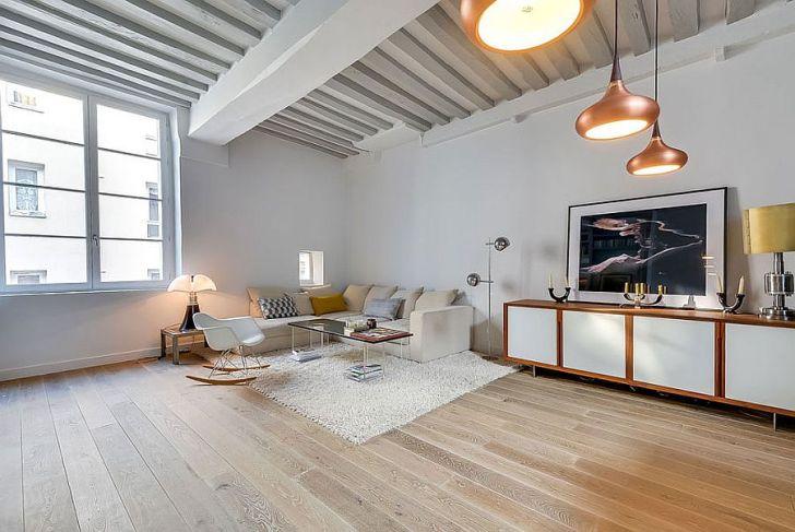 Elegant Cozy Decor and Brilliant Pendants Shape the Living Room