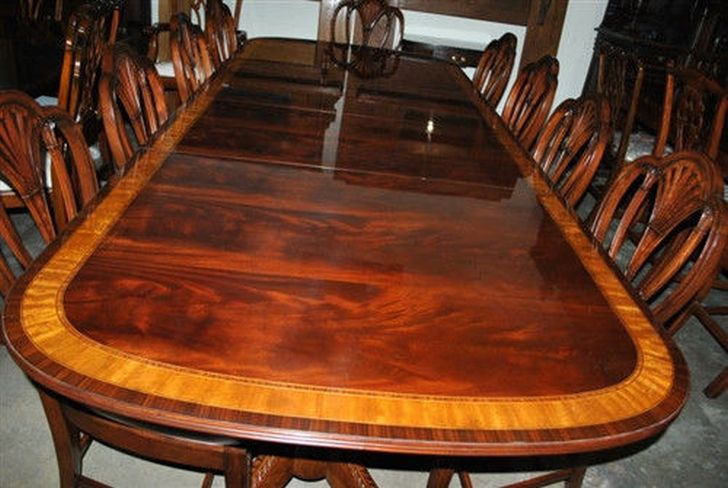 Finest Large American Made Mahogany Dining Table