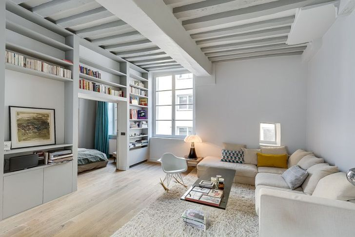 Historic Apartment in Paris Gets a Beautiful Modern Revamp