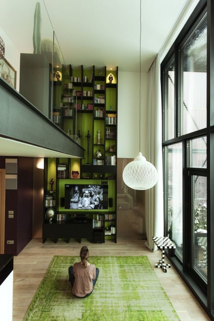 Beautiful Loft Interior Living Zone Design