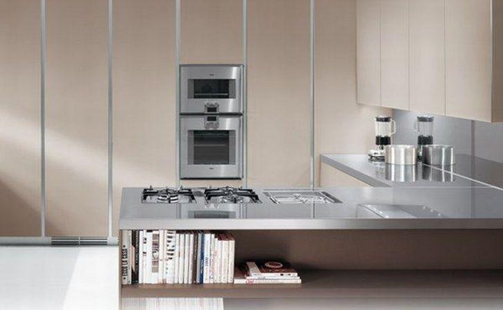 Italian Kitchen Designs Combines with Book Storage