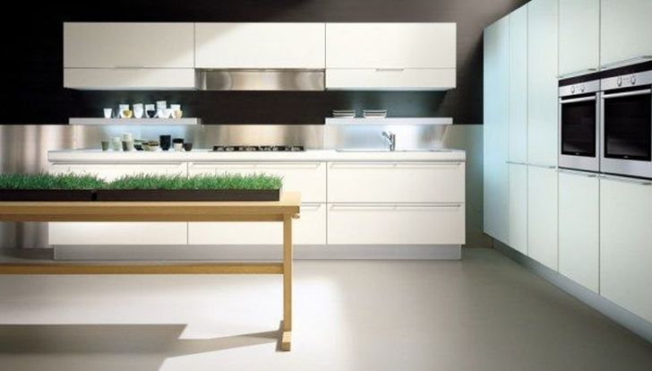 Italian Kitchen Designs by Ernestomeda with Plant Decoration