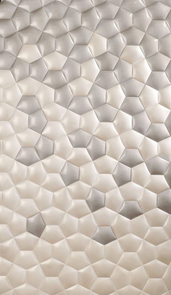 Kin Ceramic Tile Create Fascinating Grid of Hexagons that Intertwines Horizontally and Vertically