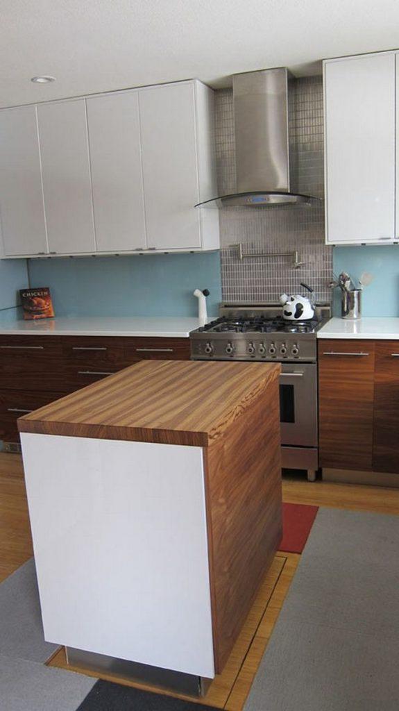 Retractable Kitchen Island with Hydraulic Scissor Lift