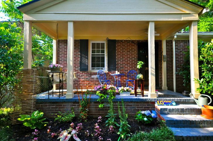 Quaint and Blooming Bungalow Porch