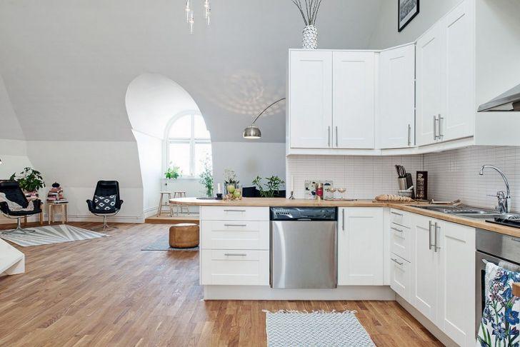 Scandinavian Duplex Design Kitchen Area