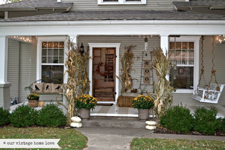 Small Colonial Front Porch Ideas