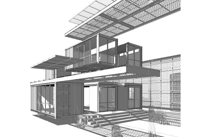Container House in Mojave Desert by Ecotech Design 16