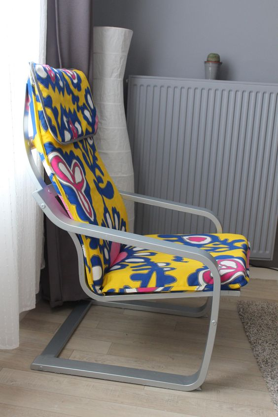 Floral Cover Ikea Poang Chair Diy