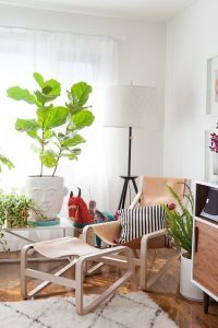 hammock styled tan leather ikea poang chair renovation