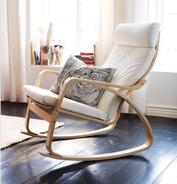Ikea Poang Chair Turned Into a Rocker
