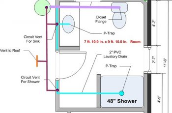 How to Plumb a Basement Bathroom Diagram